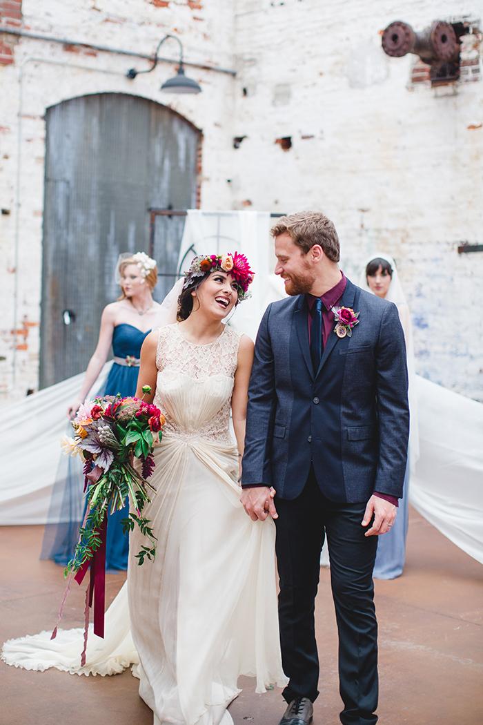 Gorgeous boho berry colored wedding inspiration!