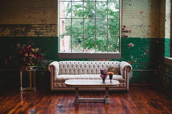 Lovely loft wedding decor and inspiration