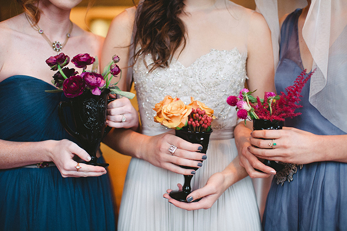 Gorgeous photo of bridesmaids in BHLDN bridesmaid dresses