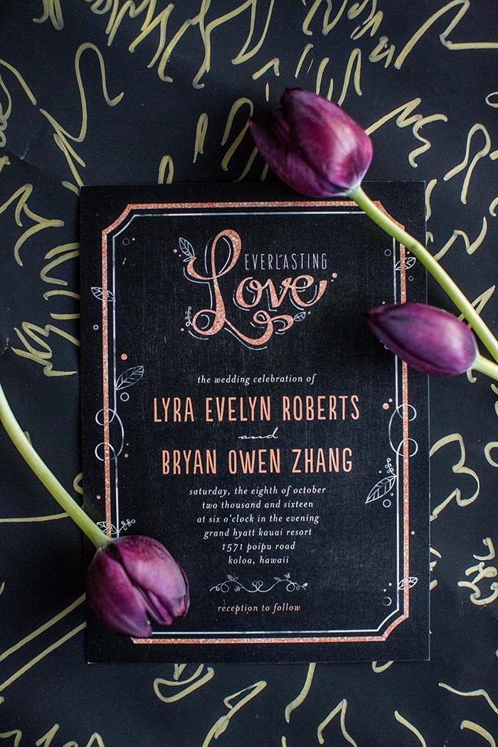 Super romantic and pretty wedding invitation by Wedding Paper Divas