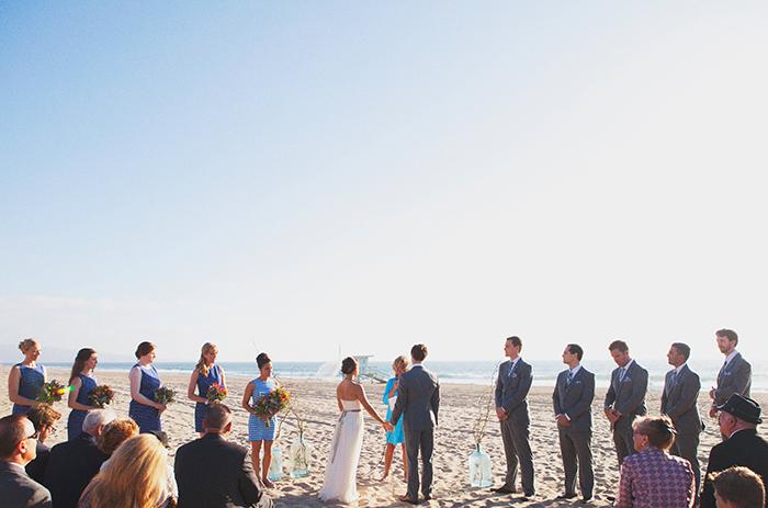 Sweet candid wedding ceremony photo