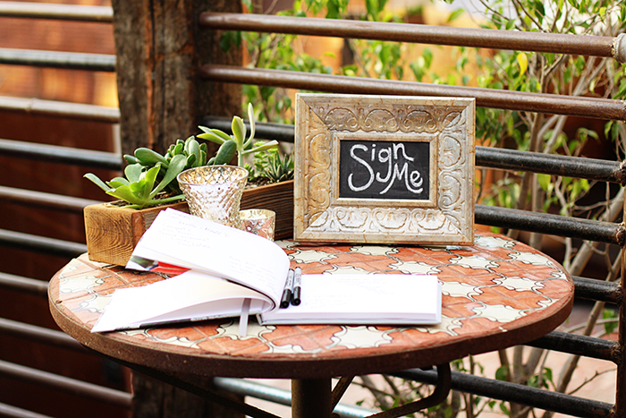 Lovely and simple wedding guest book