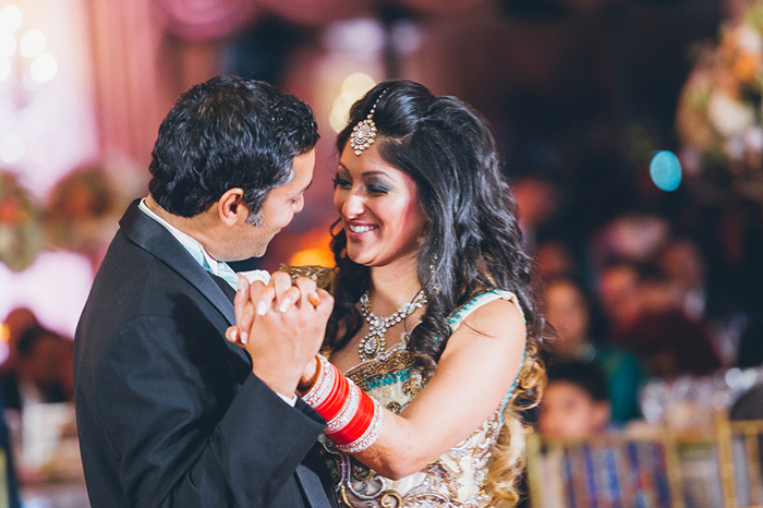 Adorable Indian wedding first dance photo