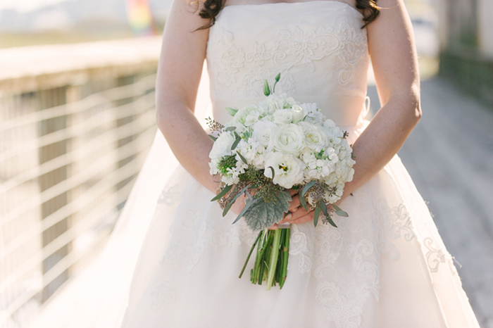 Lovely white bridal bouquet