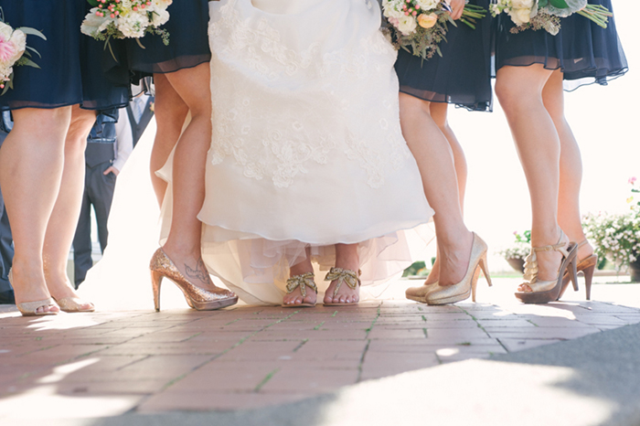 navy blue and gold wedding bridesmaids colors