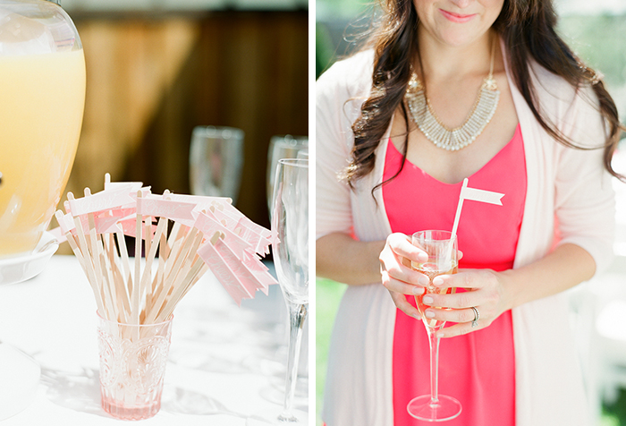 Gorgeous pink bridal shower decor