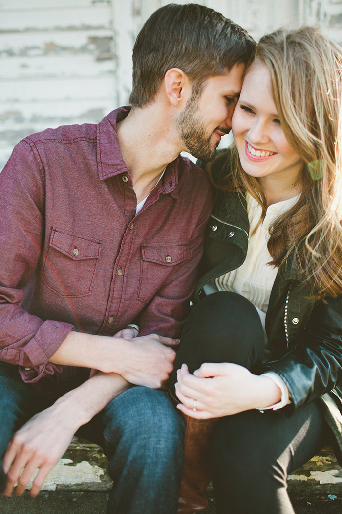 Lovely hip country engagement photos