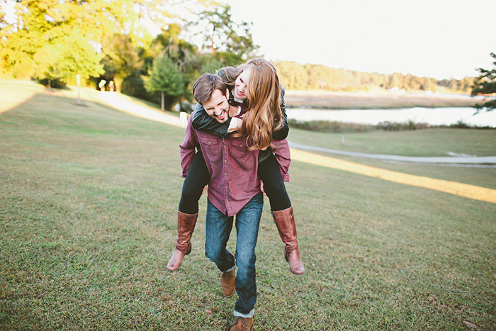 Stunning country engagement photo idea