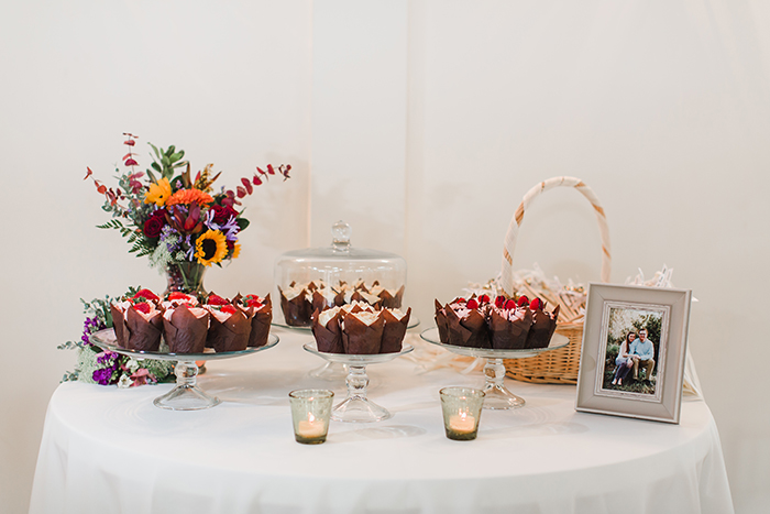 Gorgeous and simple dessert wedding table