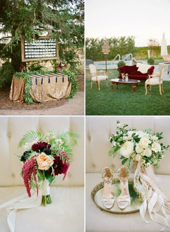 Gorgeous red and white wedding flower inspiration