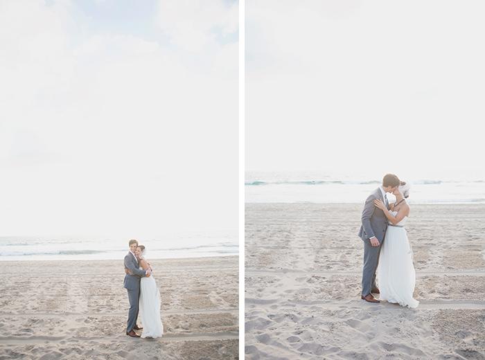 Stunning beach wedding photos of the bride & groom