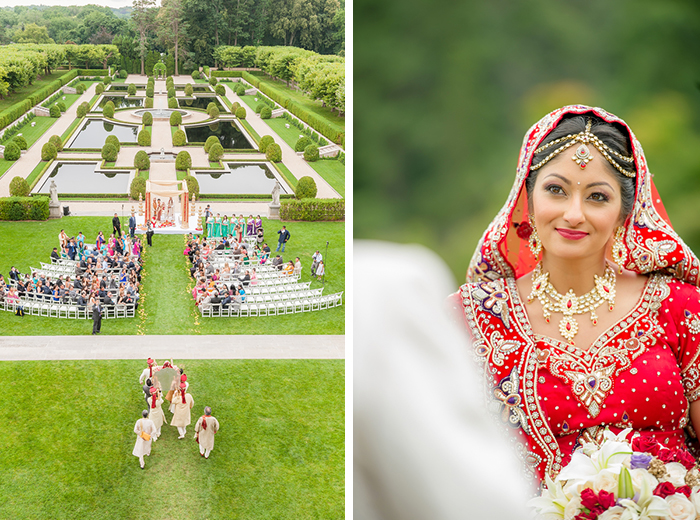 Stunning Indian wedding at a castle!