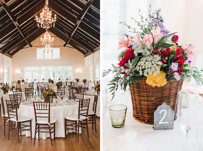 rustic summer wedding reception anne marie akins photography