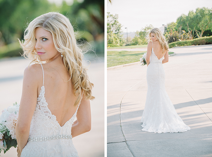 stunning lace wedding dress low back