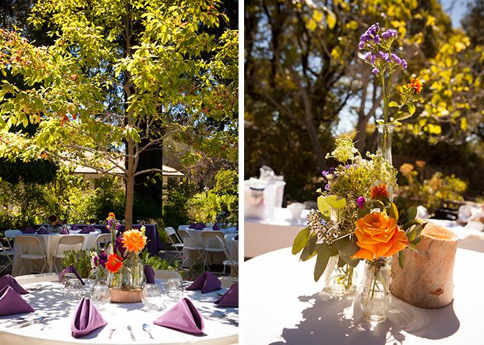 Summery purple wedding decor