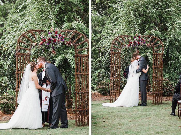 Lovely rustic outdoor wedding