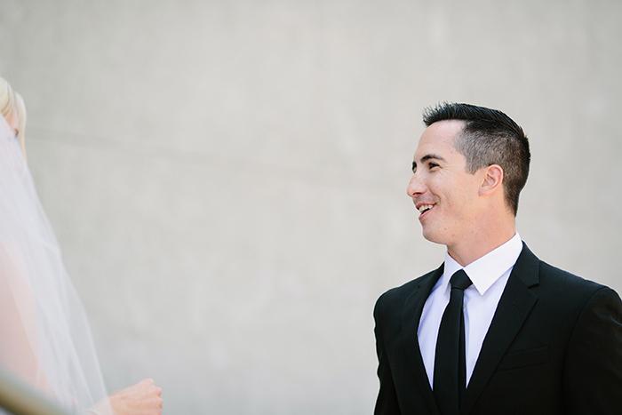 Stunning first look wedding photo