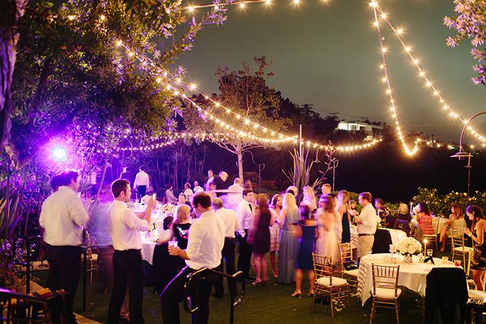 magical wedding ceremony lighting