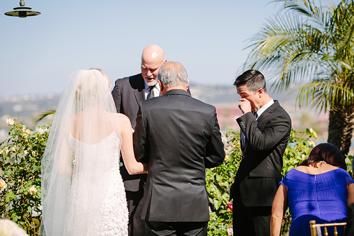 Chic wedding ceremony photo
