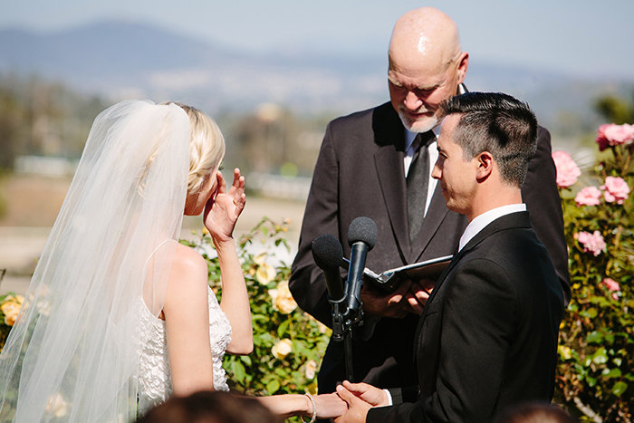 Lovely emotional wedding ceremony photo