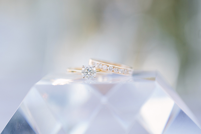 Gorgeous diamond engagement and wedding ring