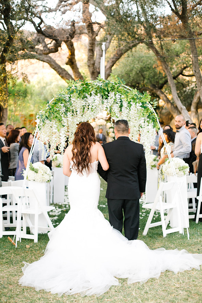 Stunning wedding ceremony arch