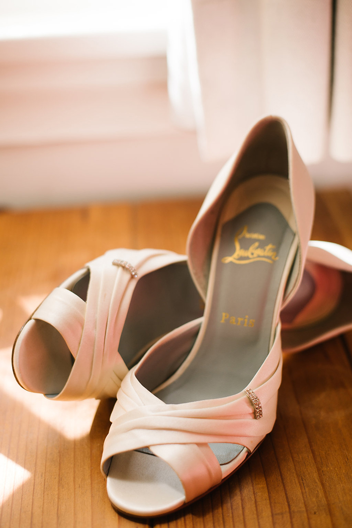 Pink louboutin shoes
