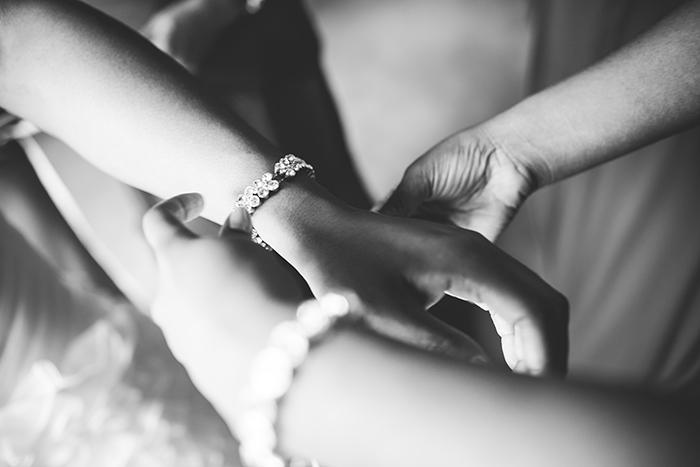 Simple classic bridal accessories