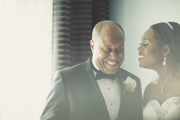 A sweet photo of the bride with her father