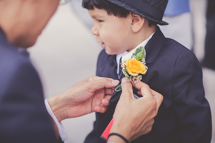 Lovely yellow boutonniere