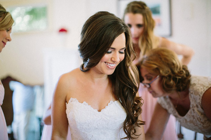 Beautiful long curly bridal hair