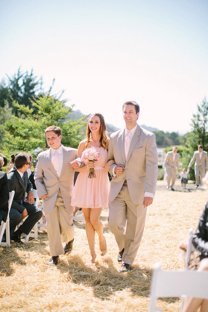 rustic country wedding processional