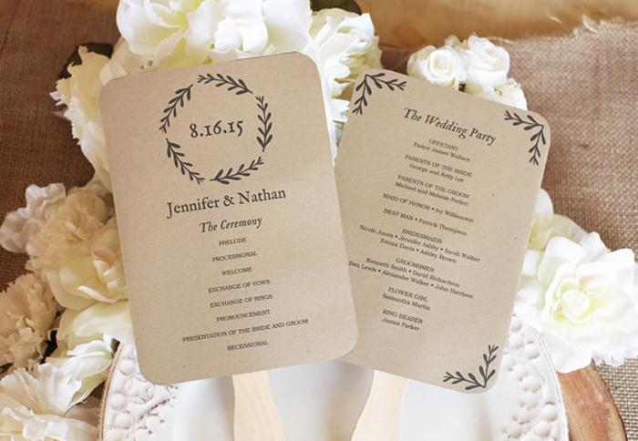 Take Your Wedding Programs To The Next Level With These Fun Ideas