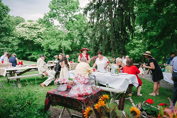 Outdoor picnic style wedding