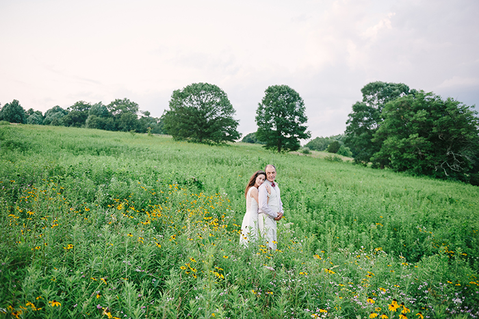 Lovely outdoor wedding bride and groom portraits