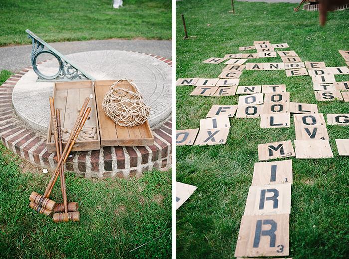Fun lawn games for a wedding reception