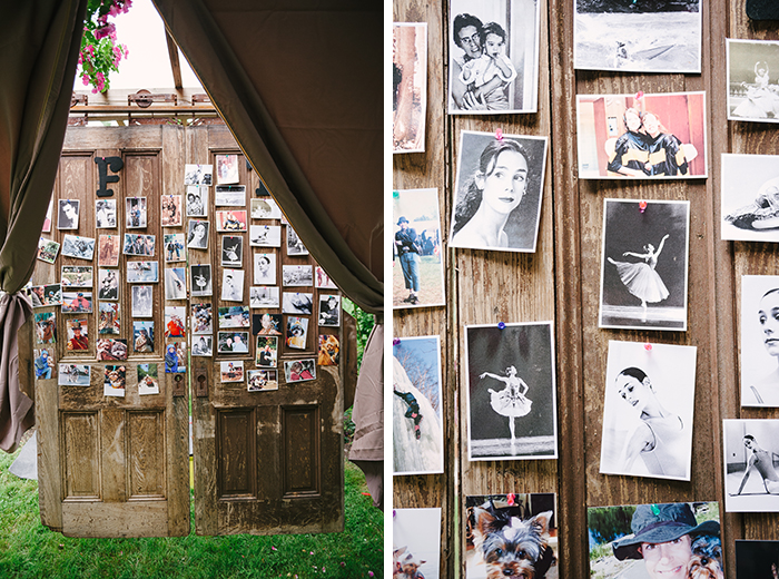 Wedding decor memory board