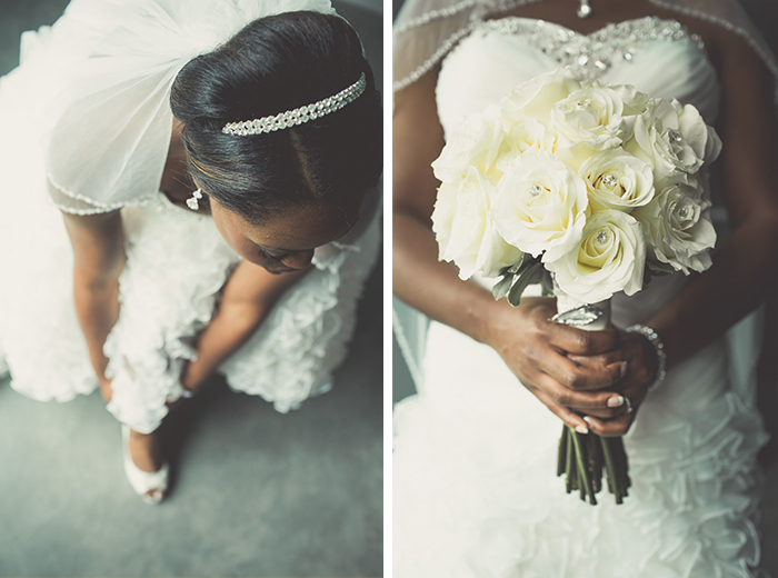 The bride and her accessories