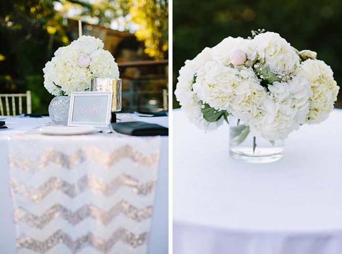 Lovely white and gold wedding decor
