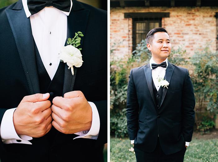 Dapper groom in a classic tux
