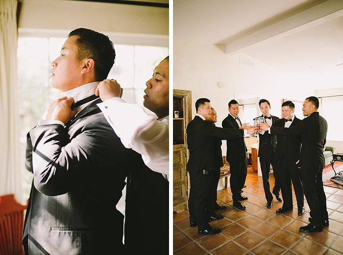 dapper groom getting ready photo