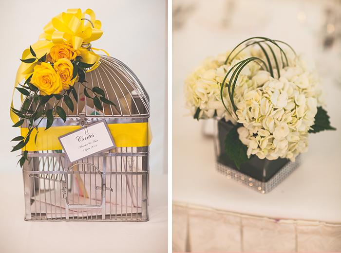 rustic yellow wedding decor