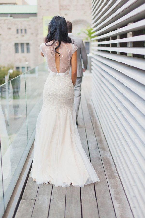20 daring and wearable sheer wedding dresses — Wedpics Blog