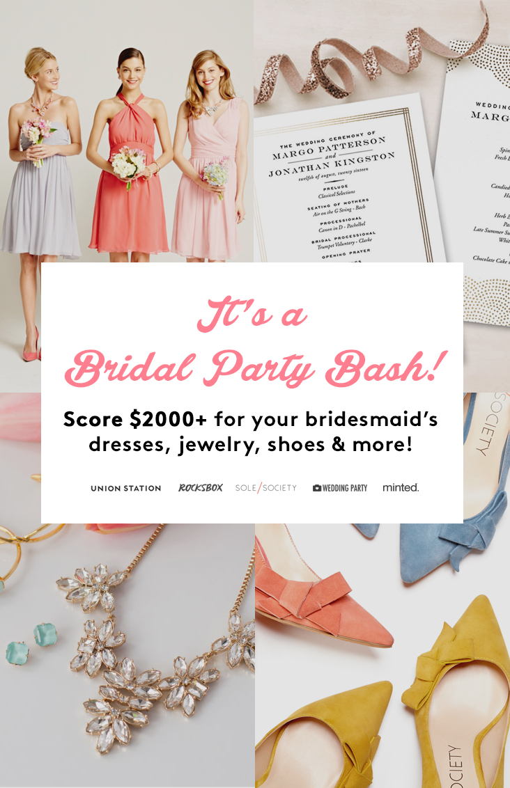 Win $2000+ for your bridesmaidd with the Bridal Party Bash giveaway!