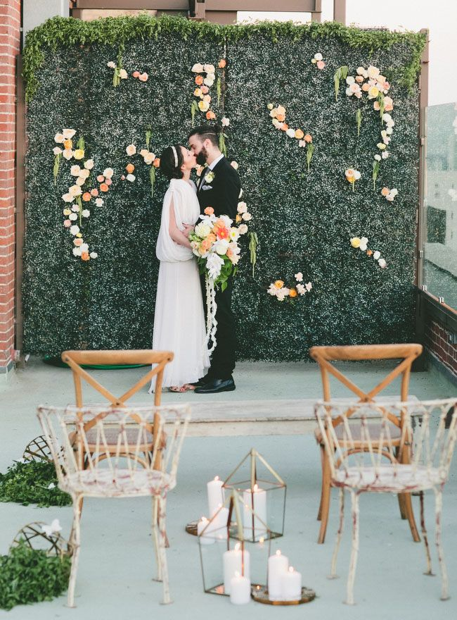 Photo by  onelove photography via  Green Wedding Shoes
