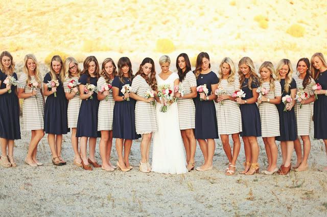 Polka Dot Bridesmaid Dresses