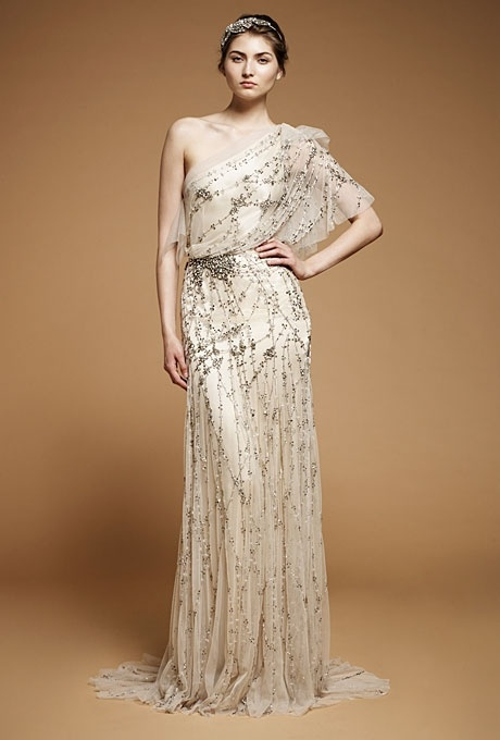 One Shoulder Vintage Wedding Dresses