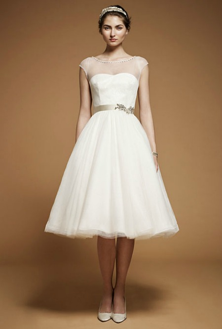 0113 1 Tea Length Wedding Dresses Gowns Fall 2012 Party Blog