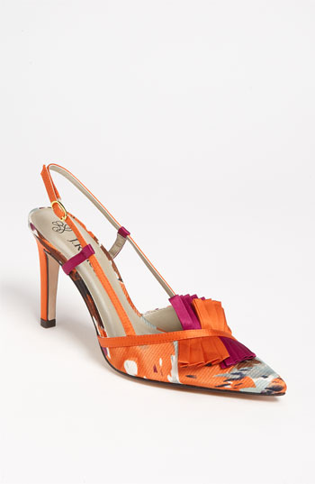 J Renee Saffr Wedding Shoes Orange And Pink Pumps Sling Back Shoes Wedding  Ideas Bright Shoes Spring Shoes Wedding Party Blog