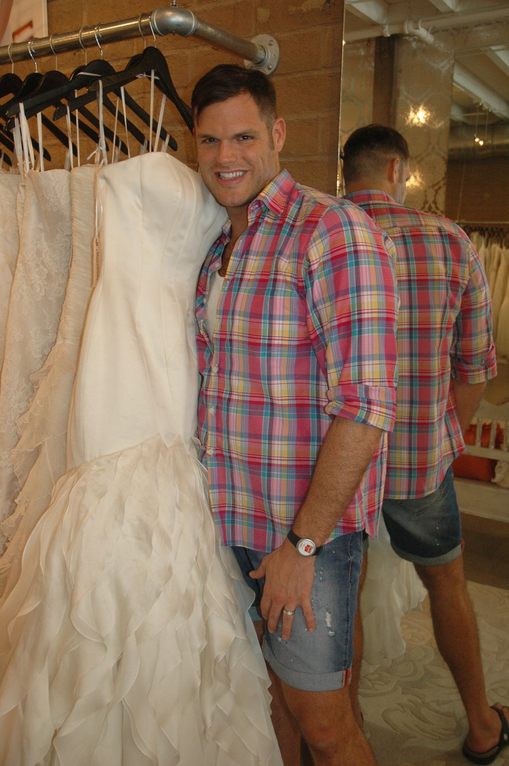 Matthew Christopher With His Wedding Gown Dahlia Wedding Gown Matthew  Christopher Wedding Designer Matthew Christopher Haute Bride Trunk Show  2012 With ...